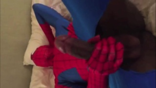 fucking guy in spiderman costume