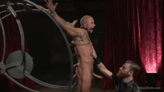 two slaves compete for their masters' attention
