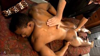 black hunk gracen gets an erotic massage