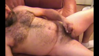 redneck daddy stroking his dick