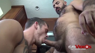 furry mexican daddy gets a hard pounding