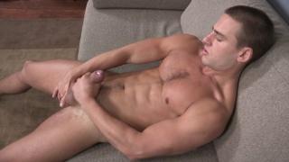 chiseled spanish stud derrick jerks his dick