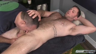 beefy hairy hunk blaze gets sucked off