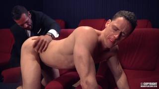 DENIS VEGA & IVAN GREGORY fuck each other in XXX cinema