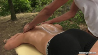 outdoor massage turns very dirty