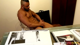 sexy guy damian strokes his dick
