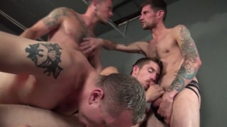 best orgy action in gang fucked 4