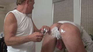 daddy dean loves shaving a guy's balls