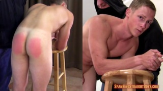 ripped and hung guy gets first spanking