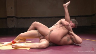 loser wrestler Choked and fucked hard by the winner