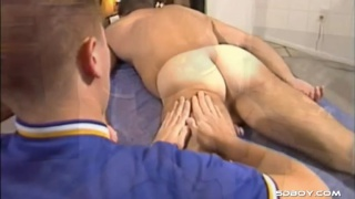 masseur has nice hands and a hard cock
