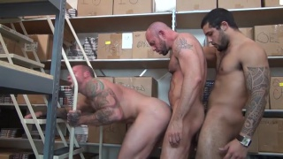 Mario Cruz bare fucks Sean Duran and Matt stevens