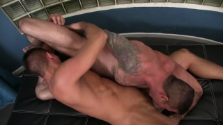 dylan saunders gets power fucked by nick moretti