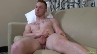 handsome ripped stud jerks his dick