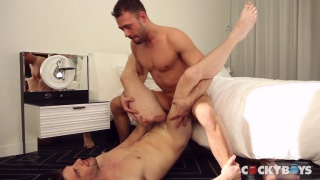 Brandon Jones fucks Dustin Holloway's ass with his big cock