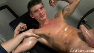 Alexander Dorch gets an office handjob