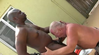 daddy gets fucks over black guy's BBQ