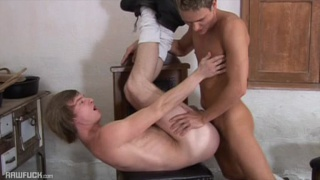 2 beautifully trained blond guys fuck