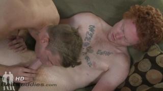 straight redhead fucks gay guy's ass