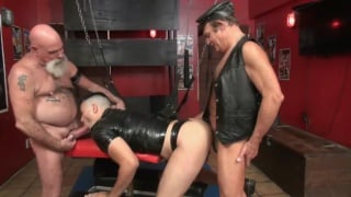 older leather dadddies share a horny bottom