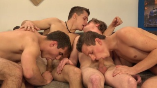 Laco Meido and Vaclav Chovanec in wank party 2015 #09
