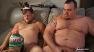 bear cubs getting blowjobs from horny christmas elf