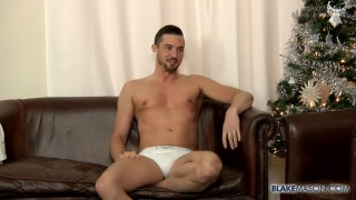Sam Barclay stokes his big uncut boner