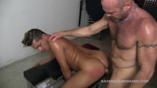 bareback top chad brock fucks cute lad in sling