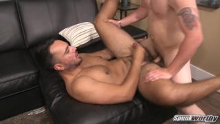 landon fucks his first guy butt ... bareback