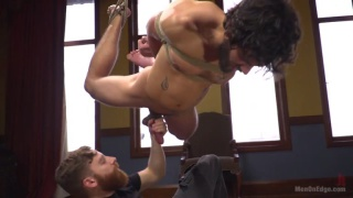 bearded fucker dale cooper strung up and teased