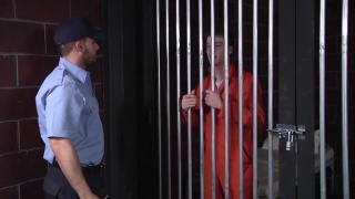 prison guard brings inmate a cocksucker