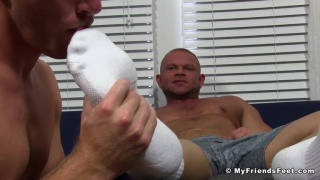 Beefy Daxton Foot Worshiped
