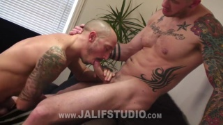 Harley Everett fucks inked bottom boy Valentin Alsina