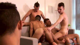 nathan hope, cory prince & Kamyk Walker in 5-guy orgy