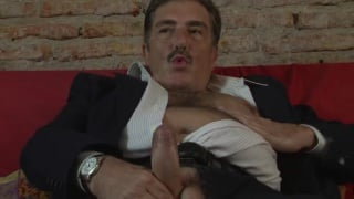 older italian man beat off