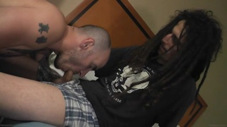 Cam Christou blows hung stud with dread locks
