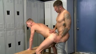 caleb troy fucks billy warren in locker room