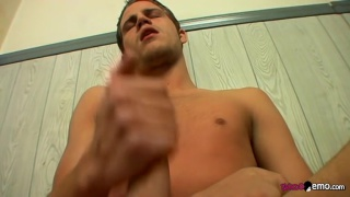 welsey licks up his own mess of cum