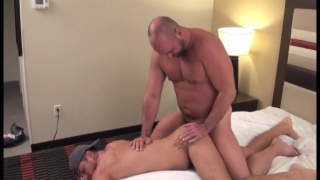 beefy top gives his bottom a bareback ride