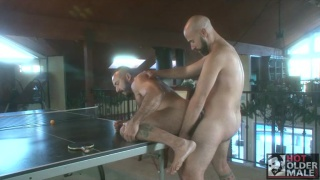 bald furball fucks masculine hunk