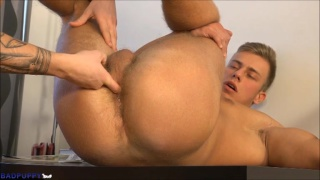 blond stud Bradley Cook ghets his ass fucked by Marion Anel