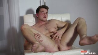 sexy montreal stud makes his first JO video