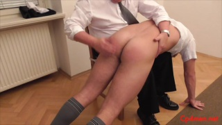 peter gets his bare bottom spanked