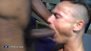 gay sub loves huge black cock
