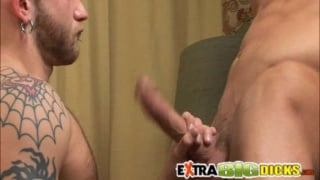 "Taking a 9"" Cock in Both Holes"