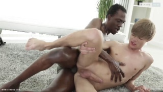 black stud fucks his masseur on the table