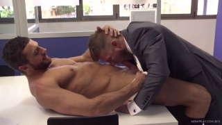EMIR BOSCATTO fucks MATTHEW ANDERS in the office