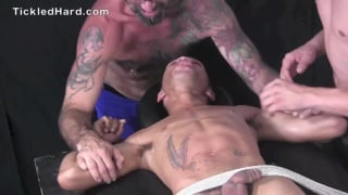 Franco and Jeff tickle Calvin