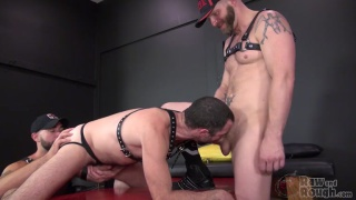 Damon Andros & Jeremy Stevens take turns fucking Dusty Williams