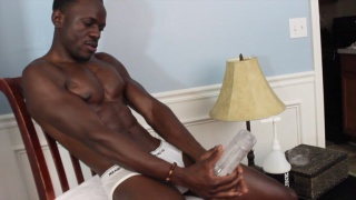 lean black guy fleshjacks his cock